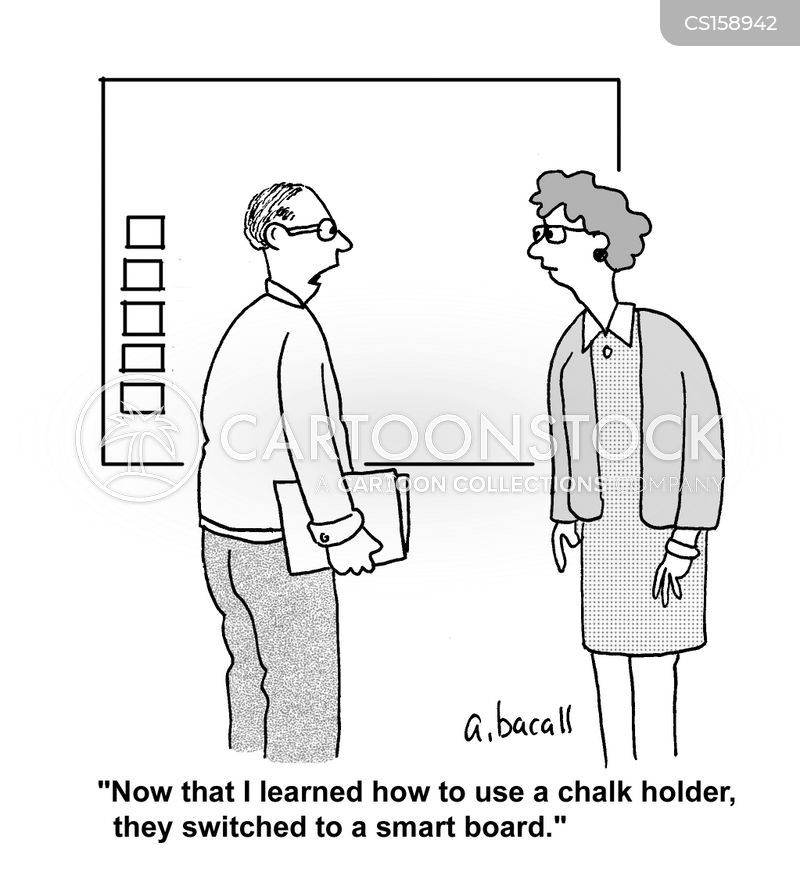 chalk holder cartoon