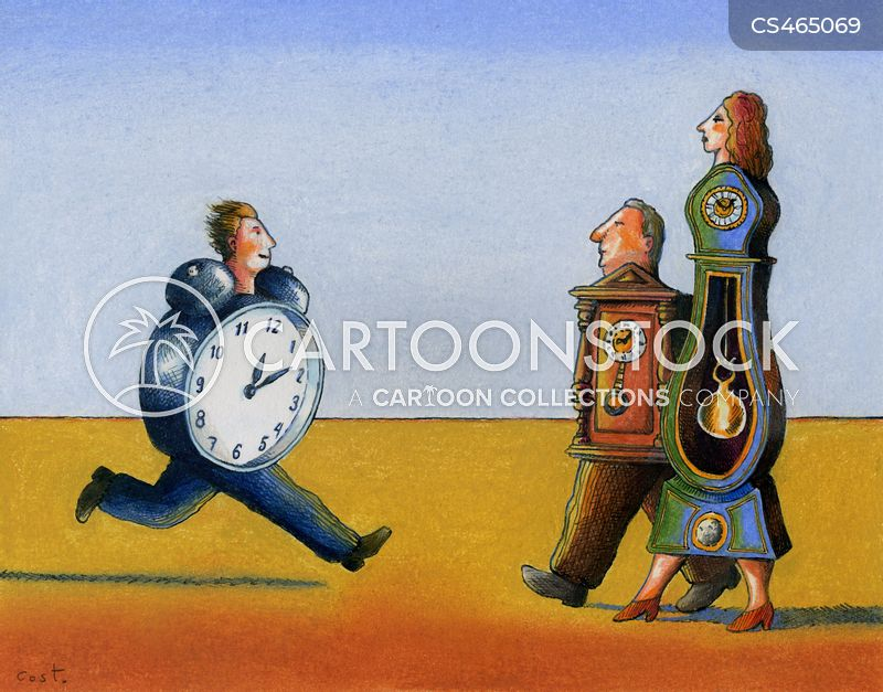 out of time cartoon