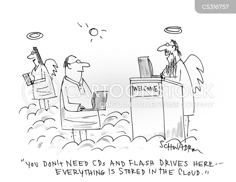 flash drive cartoon