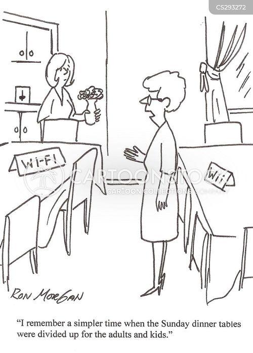 sunday dinners cartoon