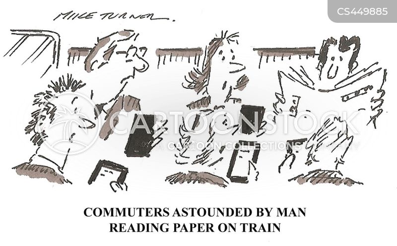 train commuters cartoon