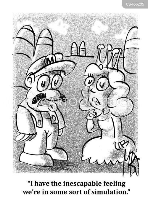 v.r. cartoon