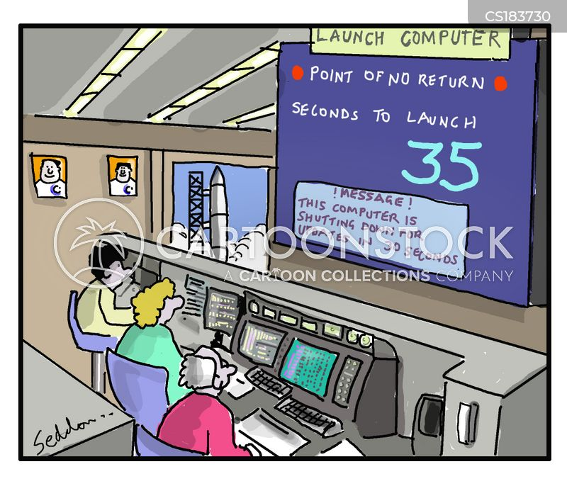 computer update cartoon