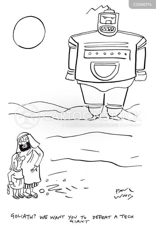 tech giants cartoon