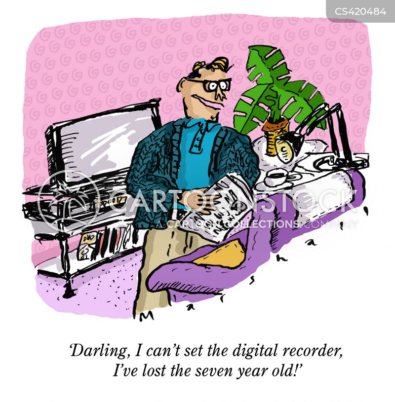 video recorders cartoon