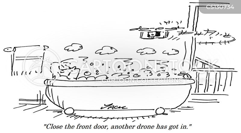 drone deliveries cartoon