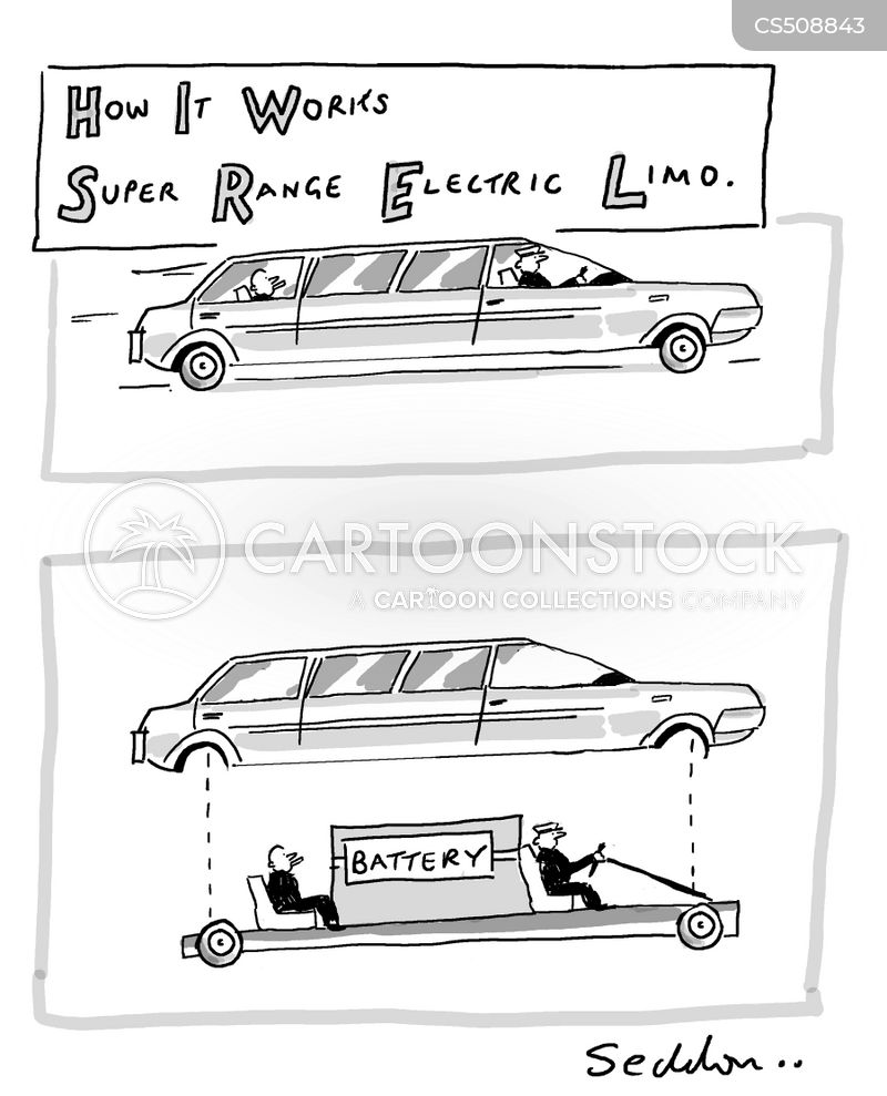 stretch limousine cartoon