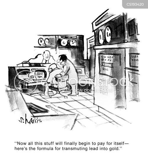 start-up costs cartoon