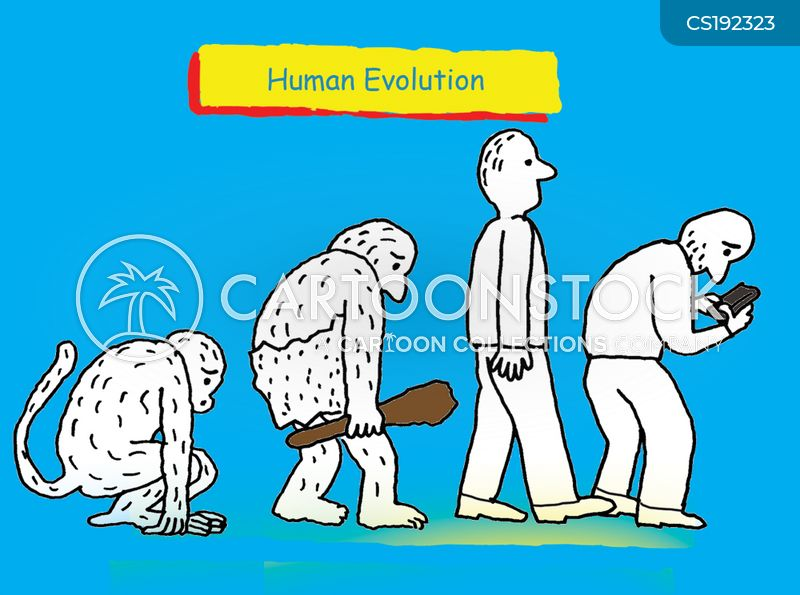 devolution cartoon