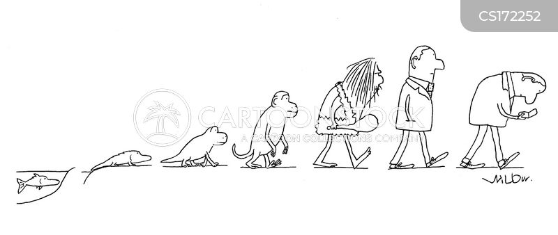 Evolution Cartoon, Evolution Cartoons, Evolution Bild, Evolution Bilder, Evolution Karikatur, Evolution Karikaturen, Evolution Illustration, Evolution Illustrationen, Evolution Witzzeichnung, Evolution Witzzeichnungen