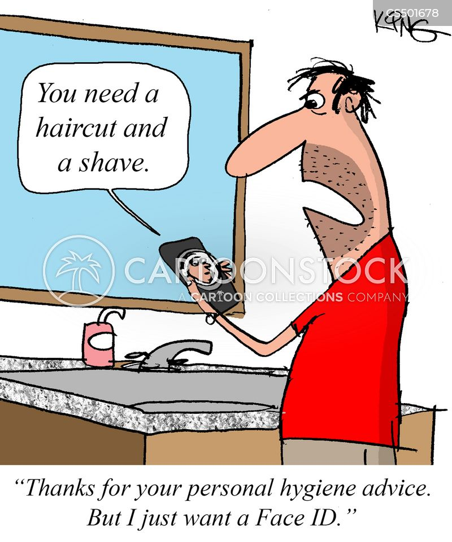 facial recognition cartoon