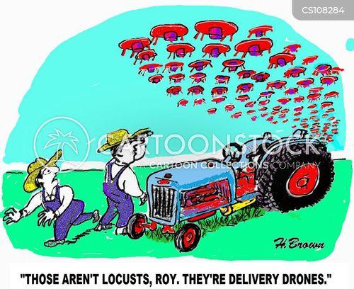 unmanned cartoon