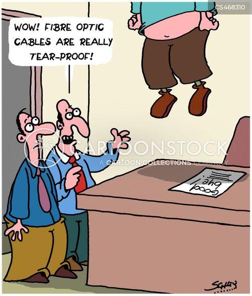 fibre optic cables cartoon