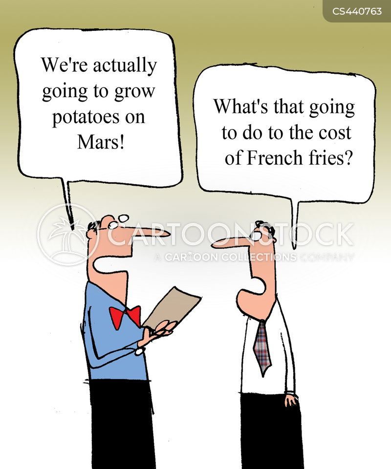 french fries cartoon