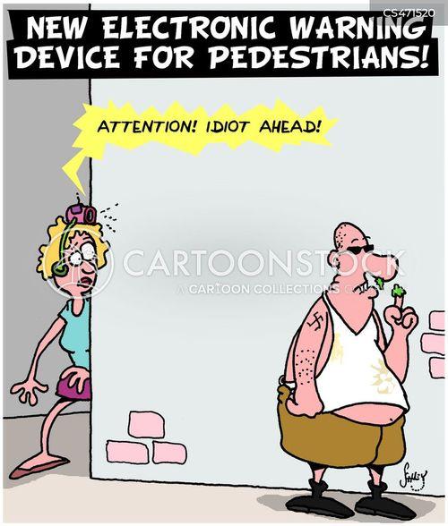 warning system cartoon