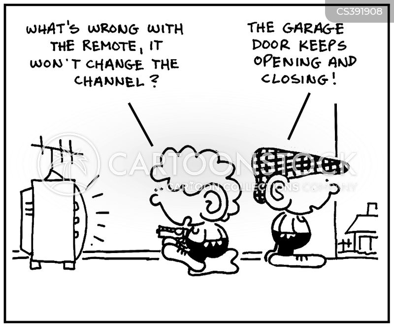 garage door cartoon