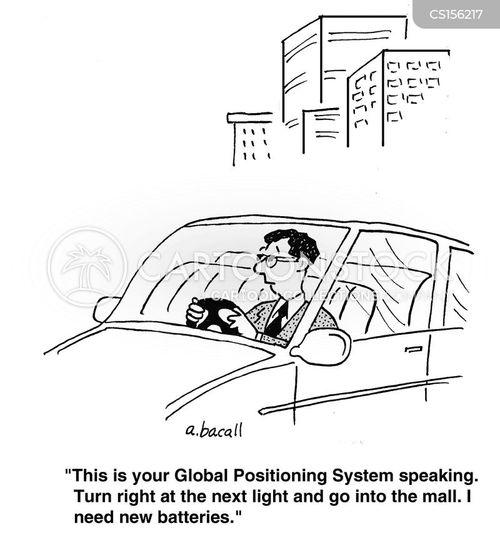 gps system cartoon