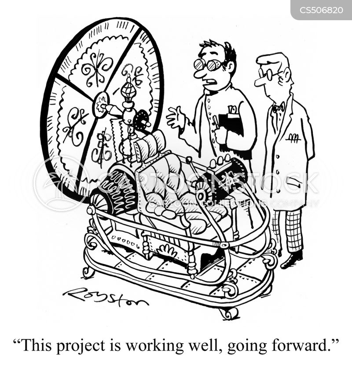 going forward cartoon