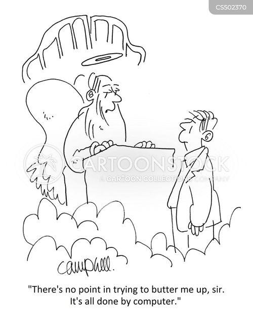 buttering up cartoon