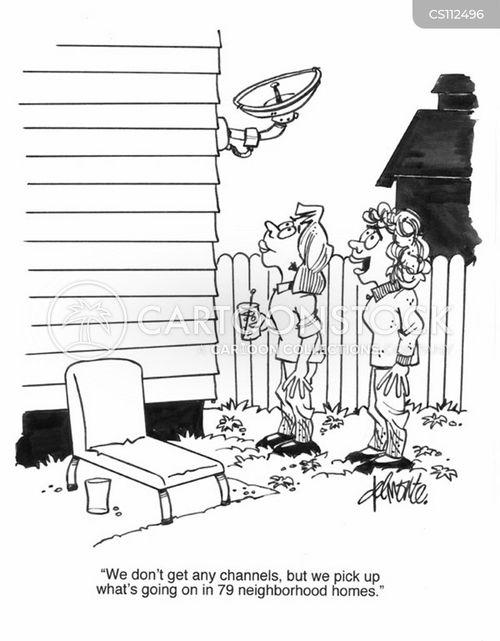 television receptions cartoon