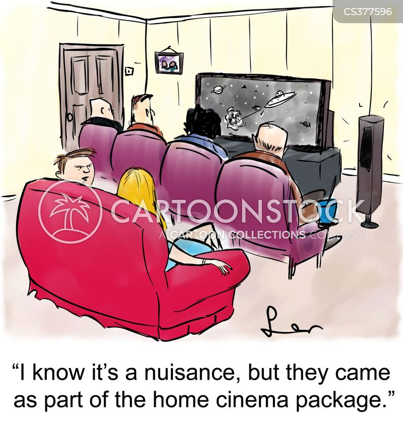 home theater cartoon