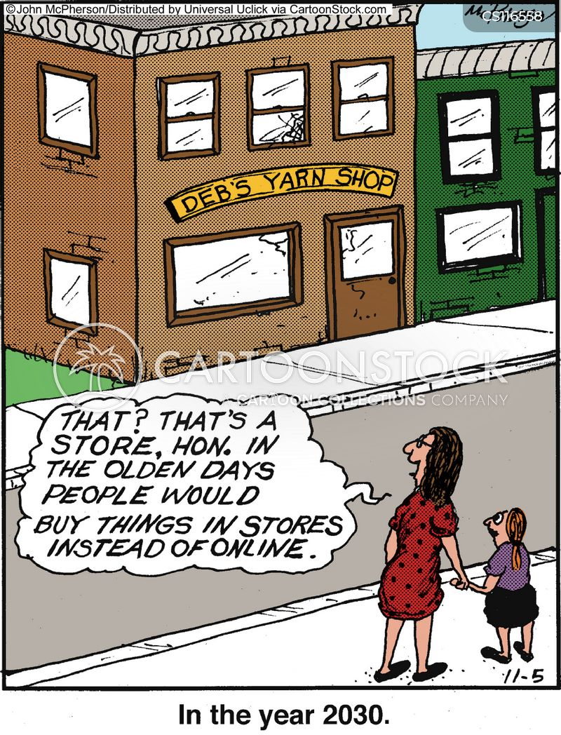 internet shops cartoon