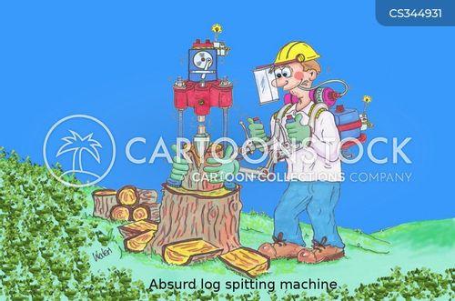 fire wood cartoon