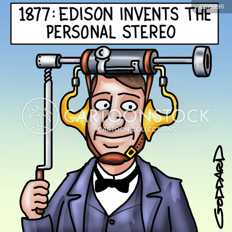 personal stereos cartoon