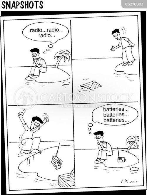 cast away cartoon