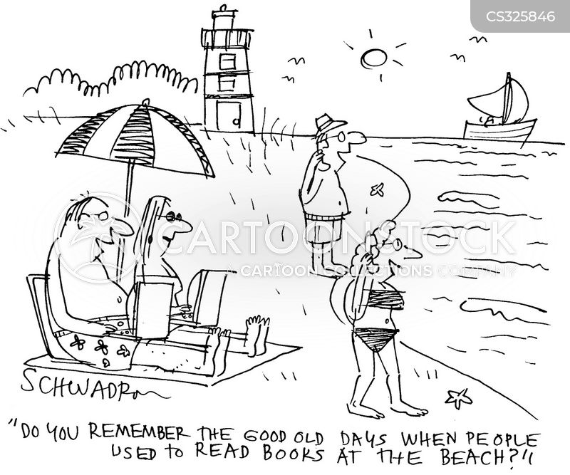 beachgoers cartoon