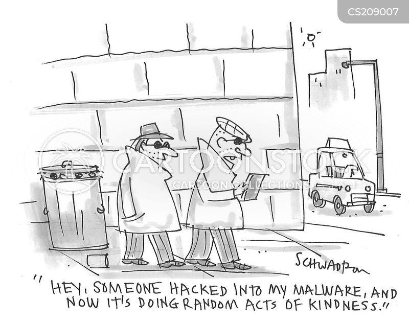 malware cartoon