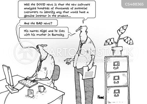 target customer cartoon