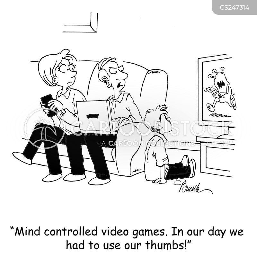 game consoles cartoon