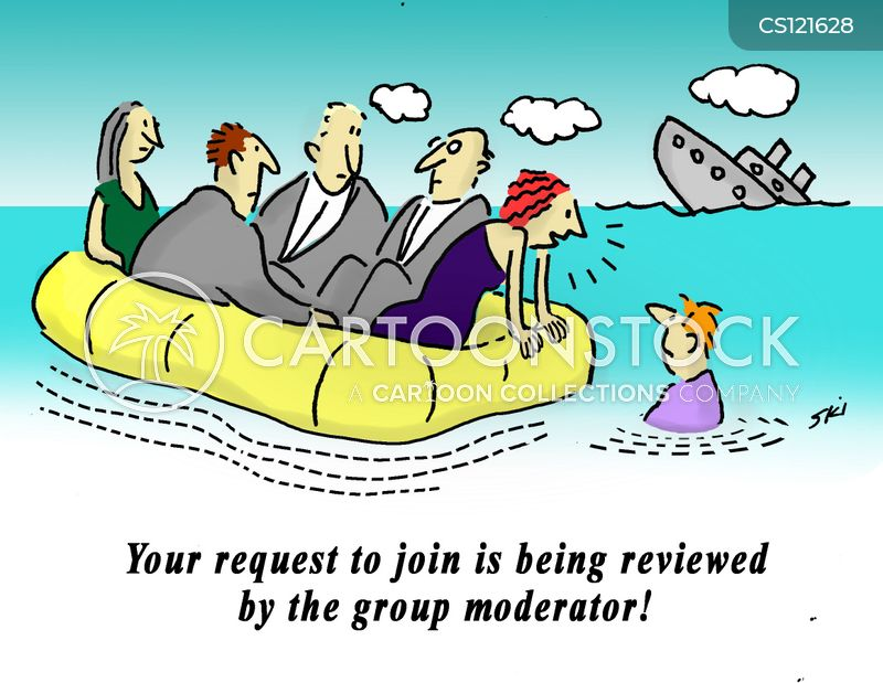 group moderator cartoon