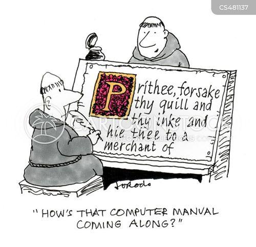 illustrated manuscripts cartoon
