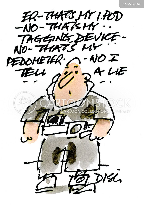pedometers cartoon