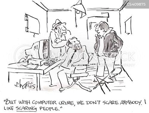 internet crime cartoon