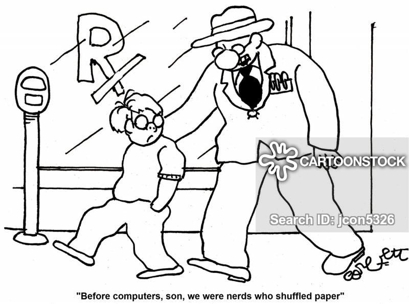 paper shuffler cartoon