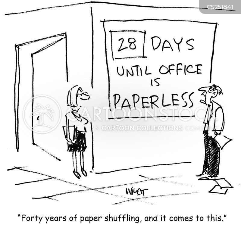 paper shufflers cartoon