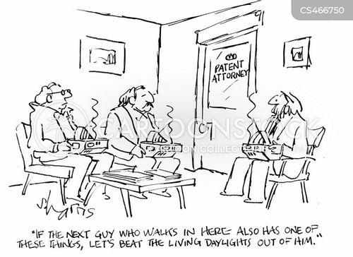 patent attorney cartoon