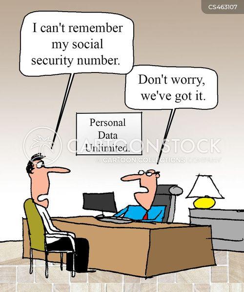 social security number cartoon