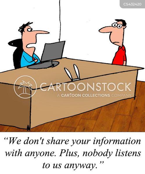 customer data cartoon