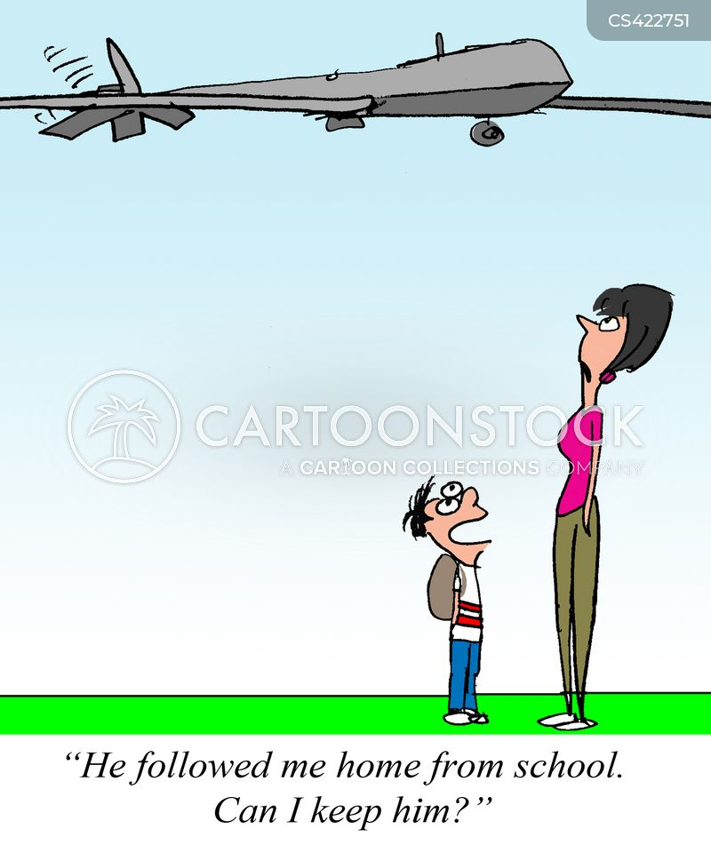 surveillance drones cartoon