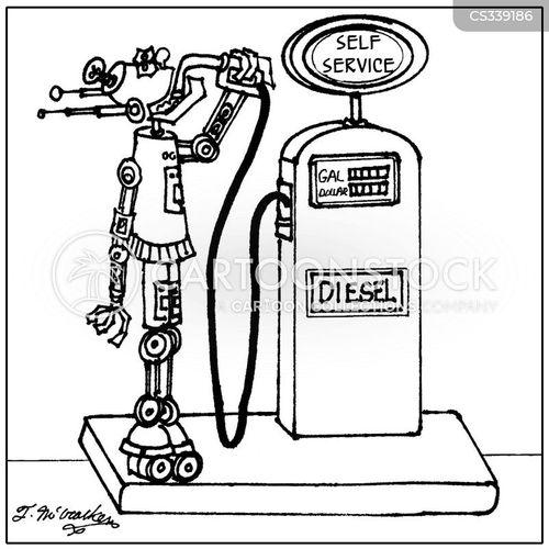drinking gas cartoon