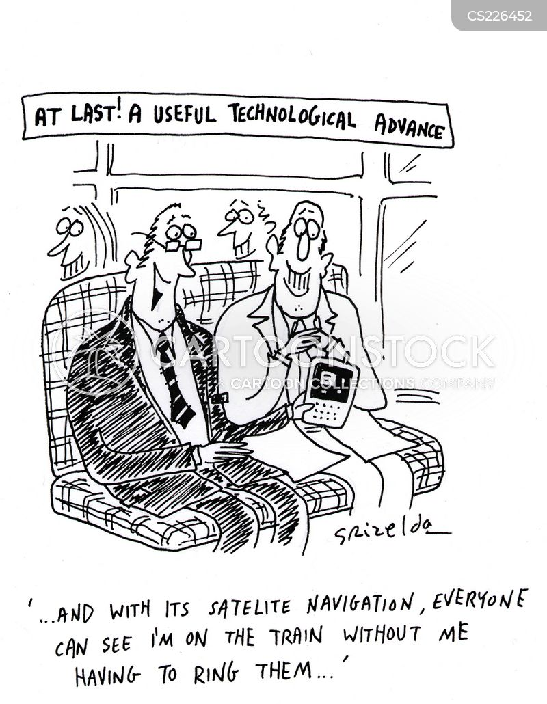 technological advance cartoon