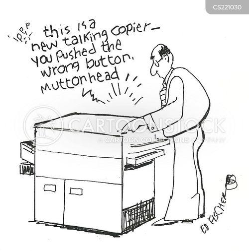 office equipments cartoon