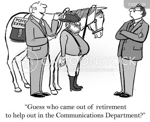 communications department cartoon