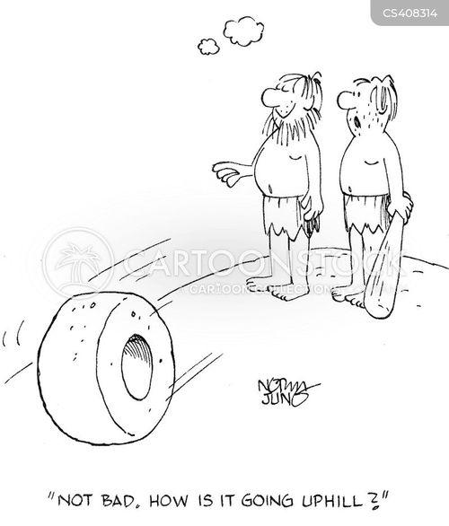 uphill cartoon