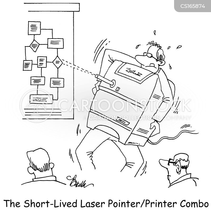 printers cartoon