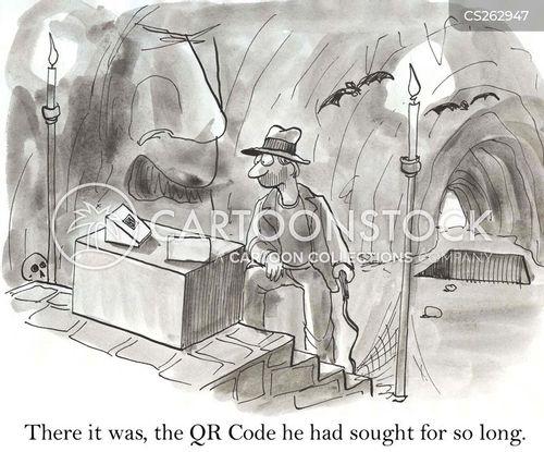 qr codes cartoon